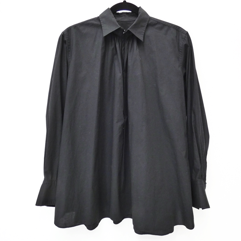 【期間限定】ポイント20倍【中古】ISSEY MIYAKE/イッセイミヤケ ORJ-STRETCH SHIRTS 長袖シャツ サイズ:2 カラー:ブラック【f108】