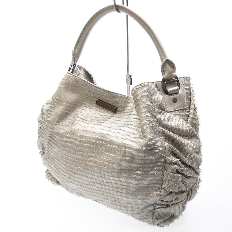 【中古】BURBERRY/バーバリー ハンドバッグ BAG バッグ サイズ:- カラー:シルバー【f121】