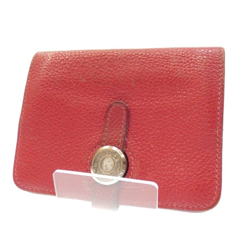 【201912pd】 【中古】HERMES/エルメス ドゴン コインケース 財布 サイズ:- カラー:レッド【f125】