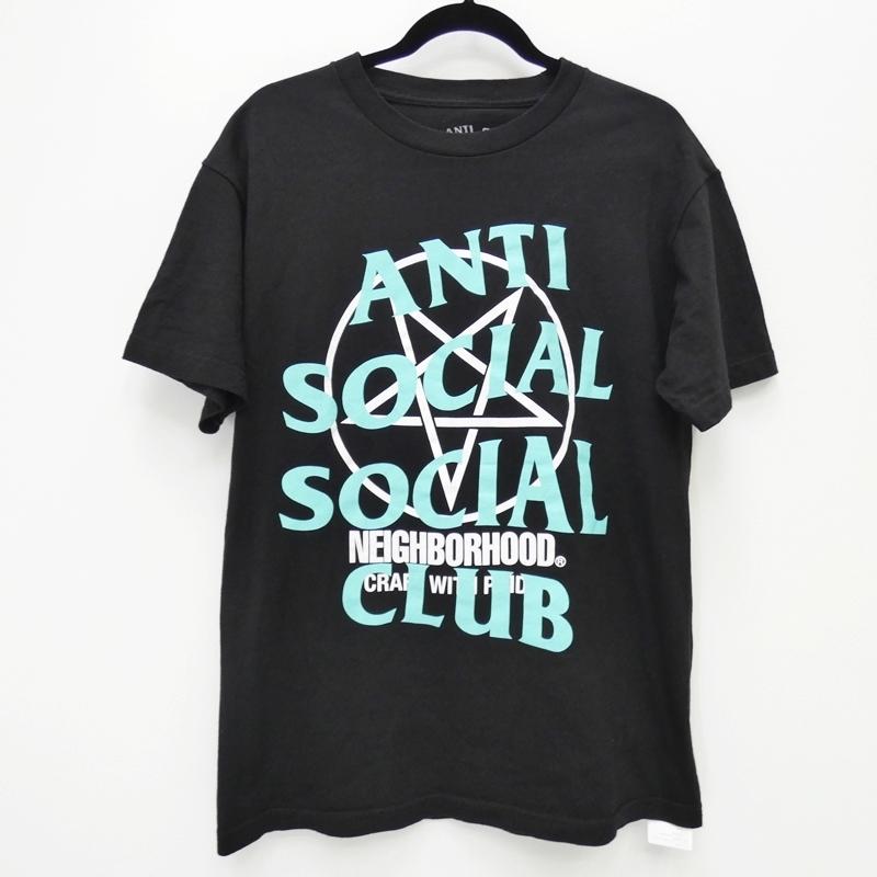 中古 ANTI SOCIAL CLUB×NEIGHBORHOOD アンチソーシャルソーシャルクラブ×ネイバーフッド 出荷 181GEASN-STM02S Filth Fury セール価格 ストリート gwpu Tee サイズ:M 半袖Tシャツ カラー:ブラック f103