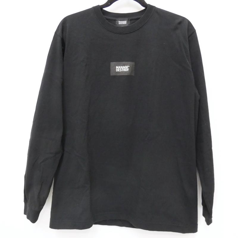 【期間限定】ポイント20倍【中古】KYNE×MANAGE DESTROY 長袖Tシャツ サイズ:L カラー:ブラック / ストリート【f103】