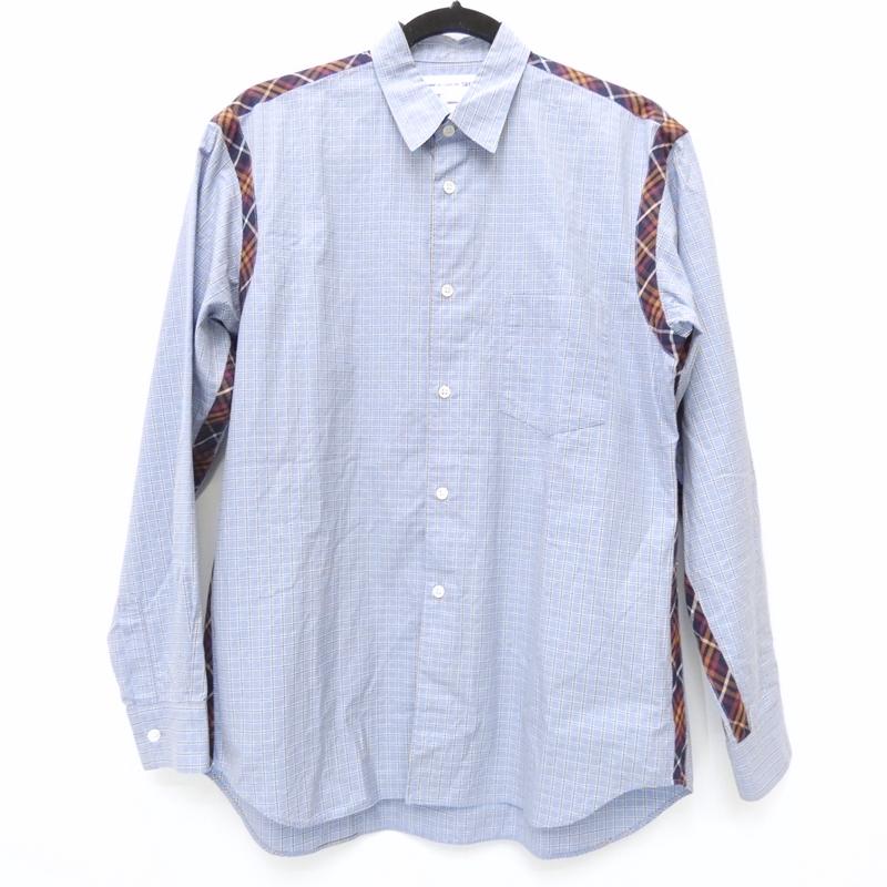 【中古】COMME des GARCONS SHIRT/コムデギャルソンシャツ W13039 長袖シャツ サイズ:S カラー:ブルー系【f108】