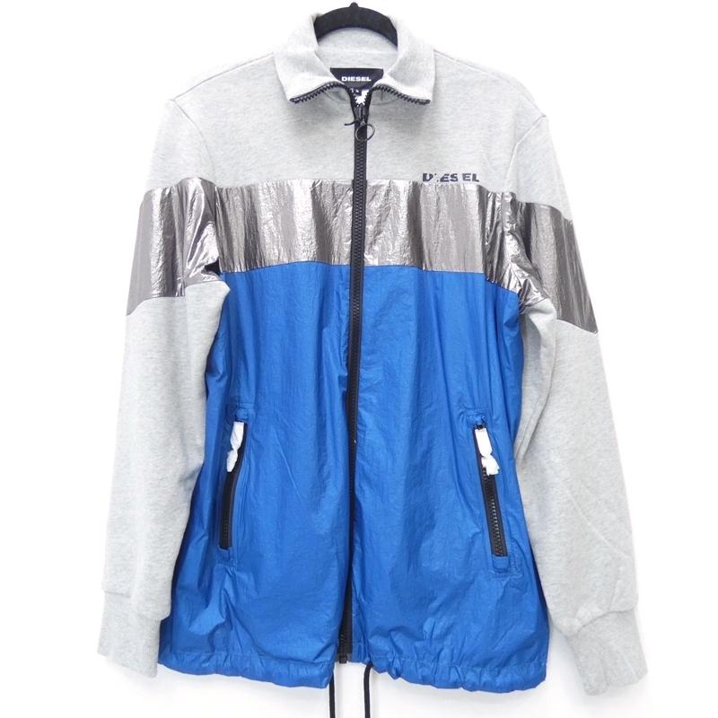 【期間限定】ポイント20倍【中古】DIESEL/ディーゼル S-GILA JKT ジャケット サイズ:S カラー:グレー×ブルー / インポート【f094】