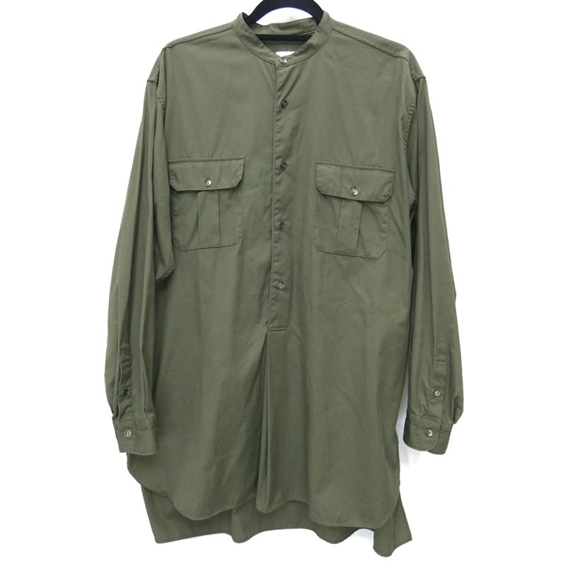 【中古】COMOLI/コモリ 2017A/W CD プルオーバーシャツ 長袖シャツ サイズ:3 カラー:カーキ / ドメス【f104】