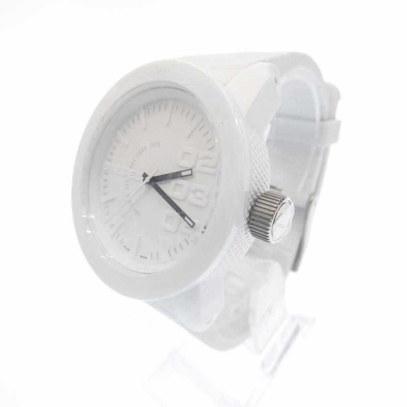 新古品 未使用品 激安挑戦中 DIESEL ディーゼル 腕時計 DZ1436 アナログ クォーツ f130 gwpu サイズ:- カラー:ホワイト 樹脂バンド ベルト ホワイト 2020新作 文字盤