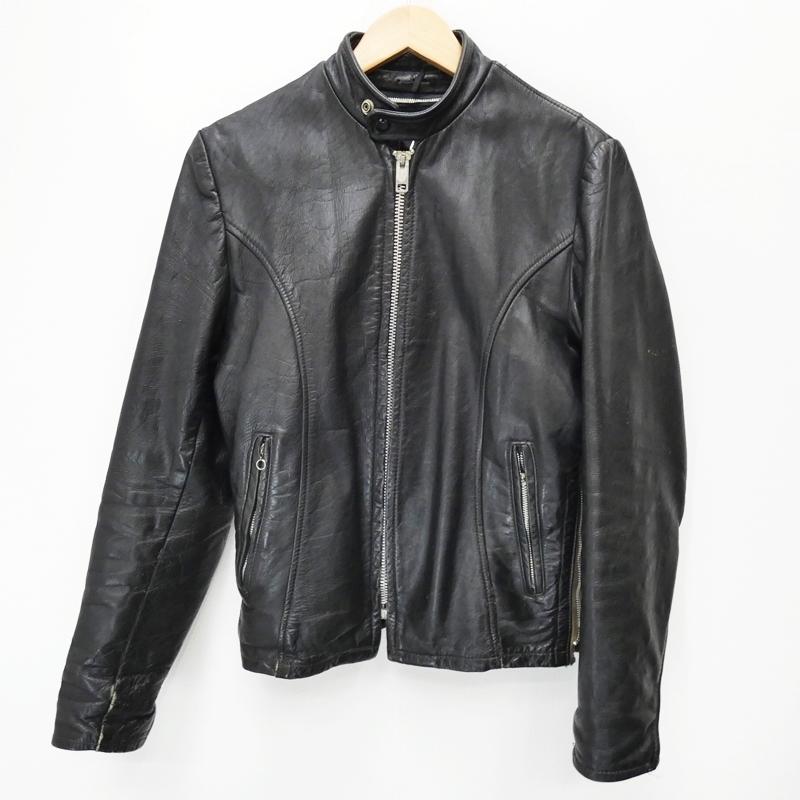 【中古】Lesco Leathers/レスコレザー 70's レザージャケット サイズ:36(M位) カラー:ブラック / アメカジ【f093】