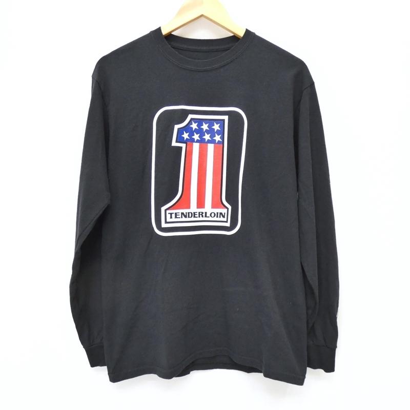【期間限定】ポイント20倍【中古】TENDERLOIN/テンダーロイン 2017S/S TEE L/S No.1 長袖Tシャツ サイズ:M カラー:ブラック / ルード【f104】