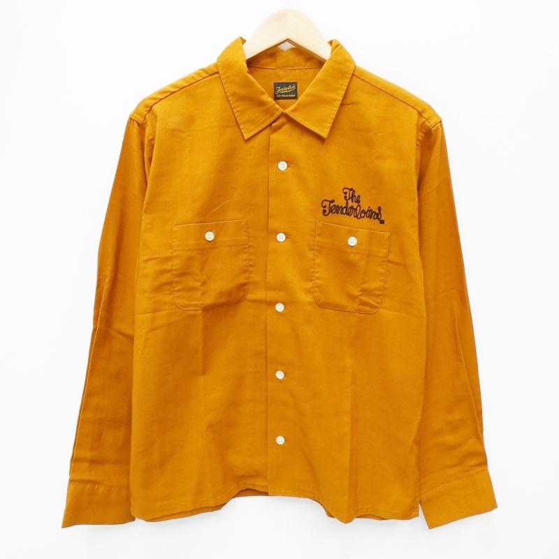 【期間限定】ポイント20倍【中古】TENDERLOIN/テンダーロイン T-WORK SHIRT オープンカラーシャツ サイズ:S カラー:オレンジ系 / ルード【f104】