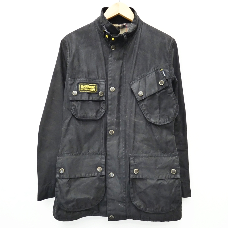 【中古】Barbour/バブアー Slim International オイルドジャケット サイズ:S カラー:ブラック / インポート【f094】