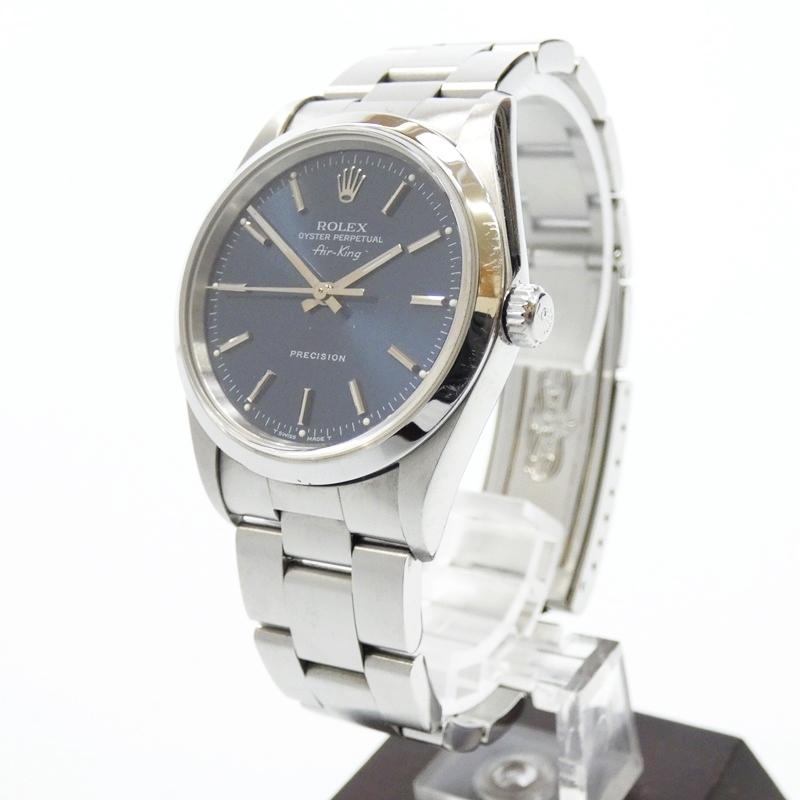 ●【中古】ROLEX/ロレックス 腕時計/自動巻き/ステンレススティール/Ref.14000 U番 サイズ:- カラー:ブラック(文字盤)×シルバー(ベルト)【f131】