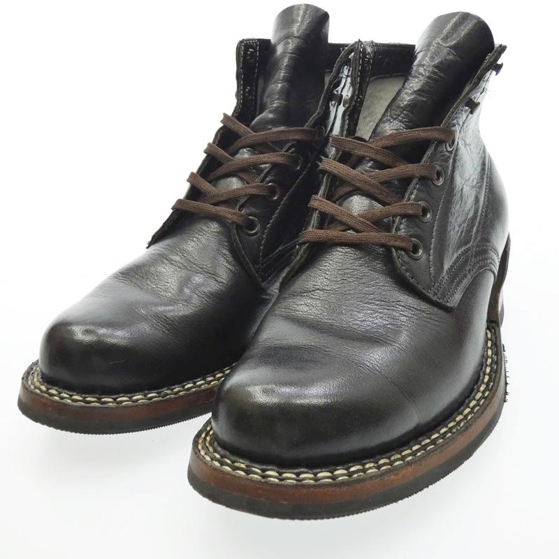 【中古】WHITE'S BOOTS/ホワイツブーツ セミドレス ブーツ サイズ:7.5 カラー:ブラック【f127】