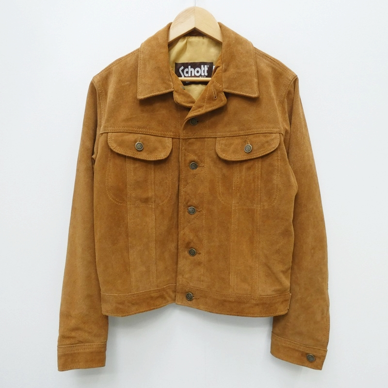【中古】SCHOTT ショット スウェードジャケット:LEEタイプ レザージャケット サイズ:40 カラー:ブラウン / アメカジ【f093】