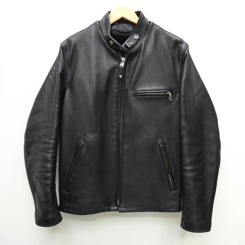 ●【中古】SCHOTT ショット 6061 641シングルレザーライダースジャケット サイズ:40 カラー:ブラック / アメカジ【f093】