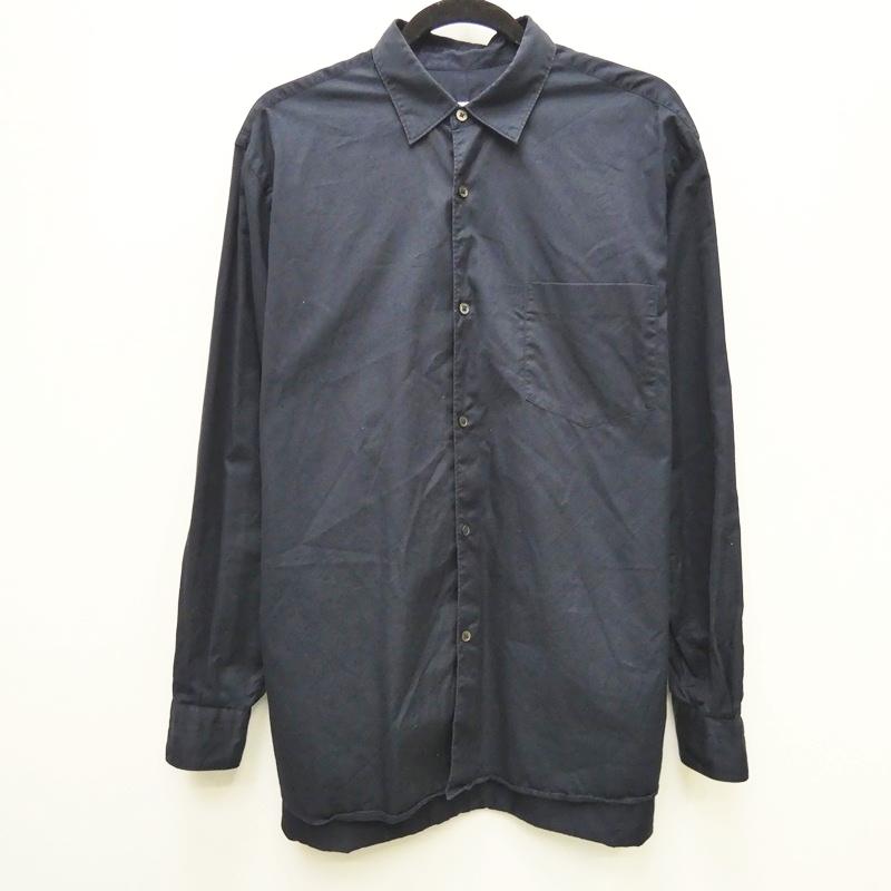 【中古】COMOLI コモリ 13F-02001 コモリシャツ:13AW シャツ長袖 サイズ:3 カラー:ネイビー / ドメス【f104】