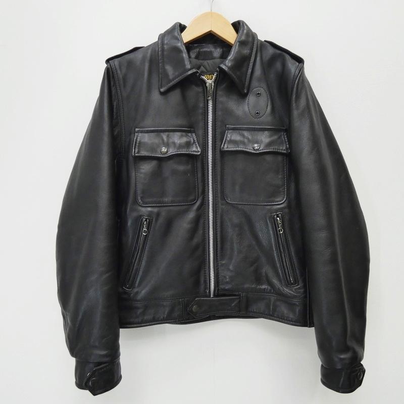 【中古】VANSON バンソン レザージャケット サイズ:38 カラー:ブラック / アメカジ【f093】