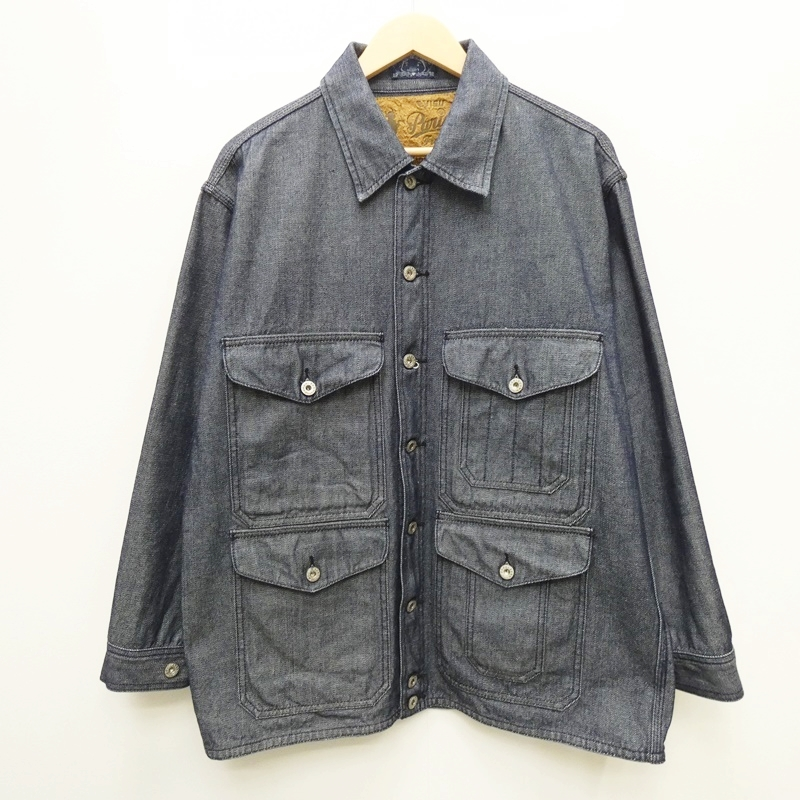 【中古】EVISU エビス エヴィス LOT:1453:PARIS ハンティングジャケット サイズ:40 カラー:インディゴ / アメカジ【f093】