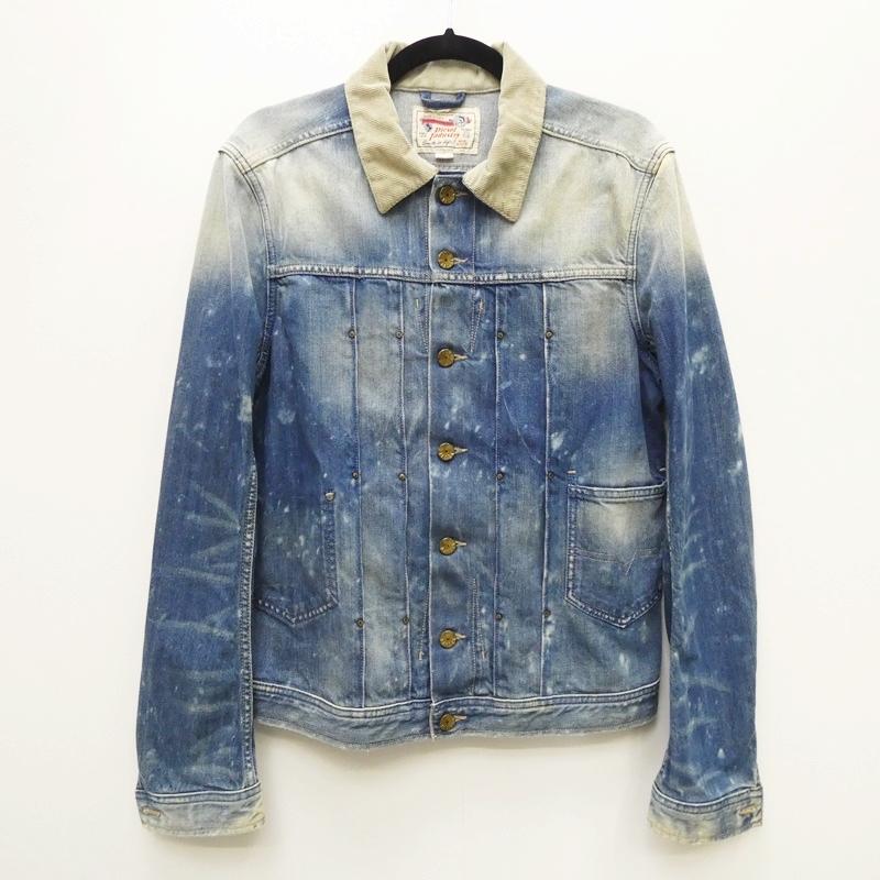 【中古】DIESEL ディーゼル JUZICON:加工 デニムジャケット サイズ:M カラー:ブルー系 / インポート【f094】