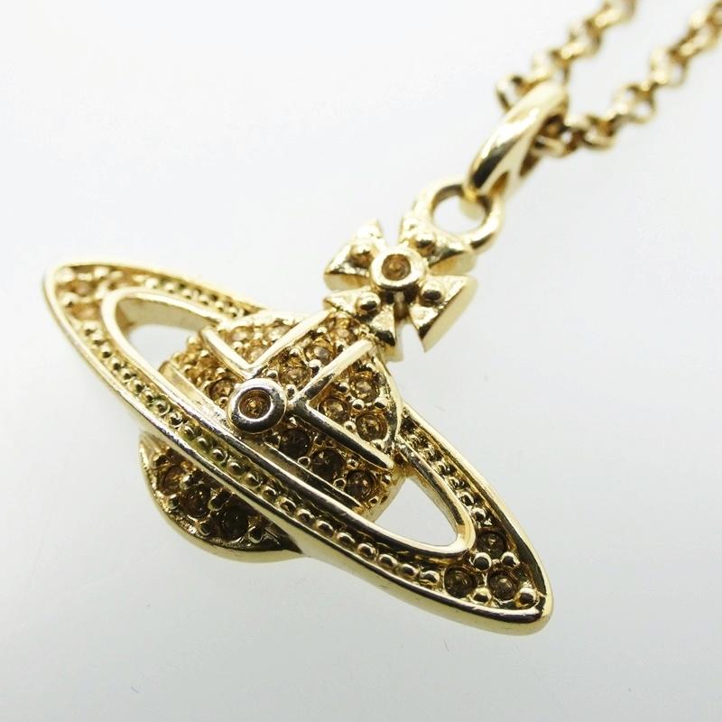 お金を節約 中古 Vivienne Westwood ヴィヴィアン ウエストウッド MINI 日本産 BAS ネックレス カラー:ゴールド f136 サイズ:- RELIEF