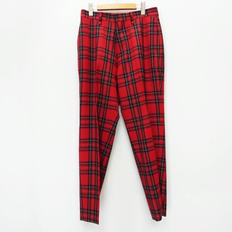 【中古】BEDWIN ベドウィン スラックス 19AB4612 10/L WOOL FLANNEL PANTS THUNDERS 19AW サイズ:2 カラー:チェック【f107】
