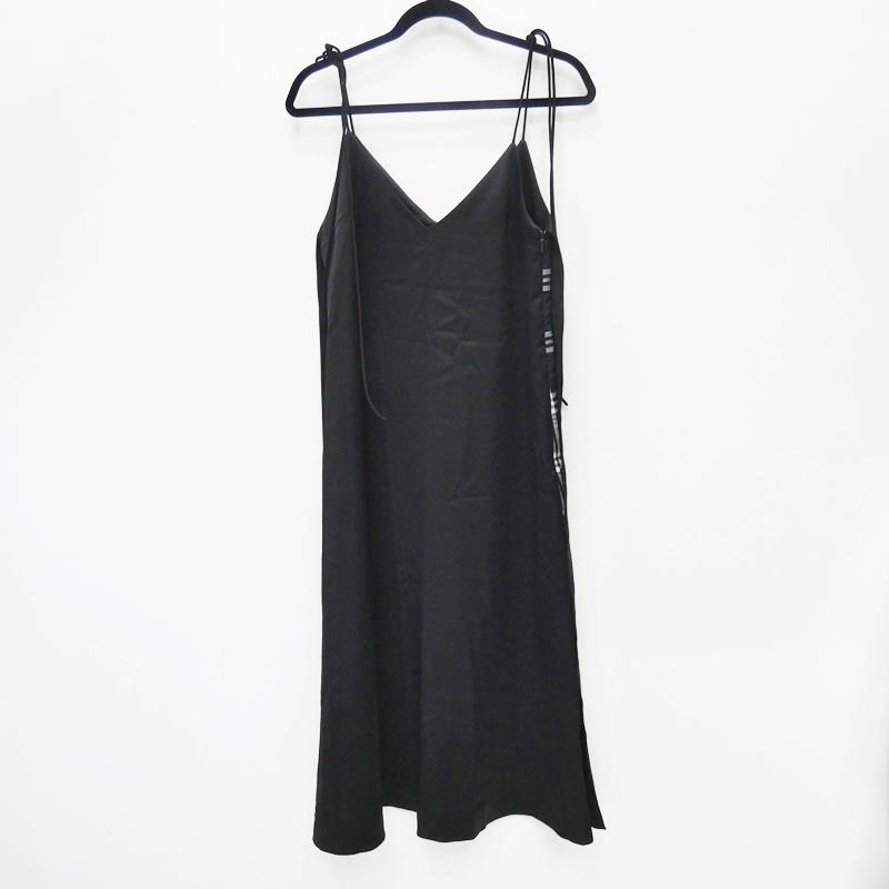 中古 日本未発売 LE CIEL BLEU ルシェルブルー サテンラップスリップドレス ワンピース カラー:ブラック サイズ:36 Vivi系 f112 卓抜