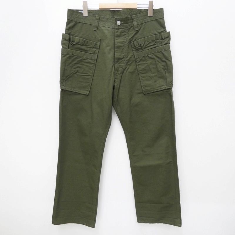 【中古】SASSAFRAS ササフラス Whole Hole Pants:RIPSTOP ワークパンツ サイズ:M カラー:カーキグリーン / セレクト【f107】
