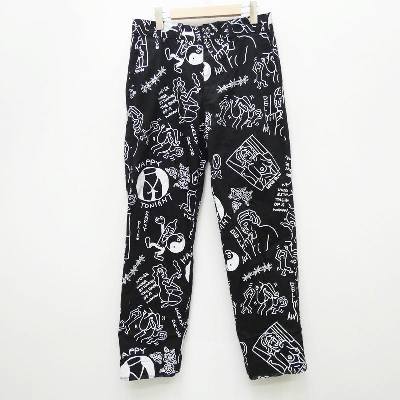 【中古】10匣(TENBOX) テンボックス FACE ACID PANTS:19SS パンツ サイズ:M カラー:総柄【f107】
