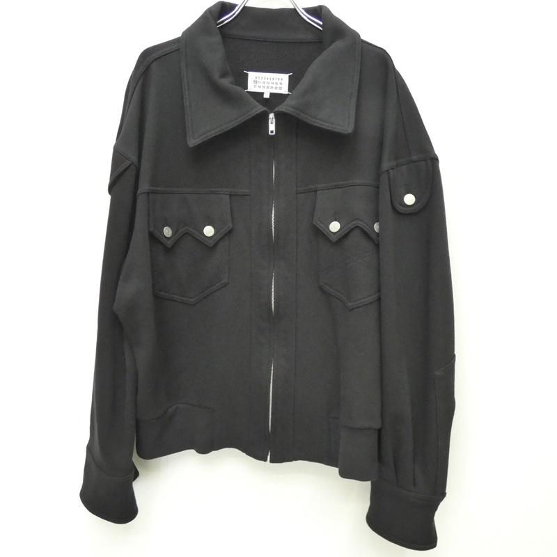 【中古】Maison Margiela メゾンマルジェラ 品番:S30AM0441 S25403 ZIP UP JACKET:国内正規品 ジャケット サイズ:44 カラー:ブラック【f108】