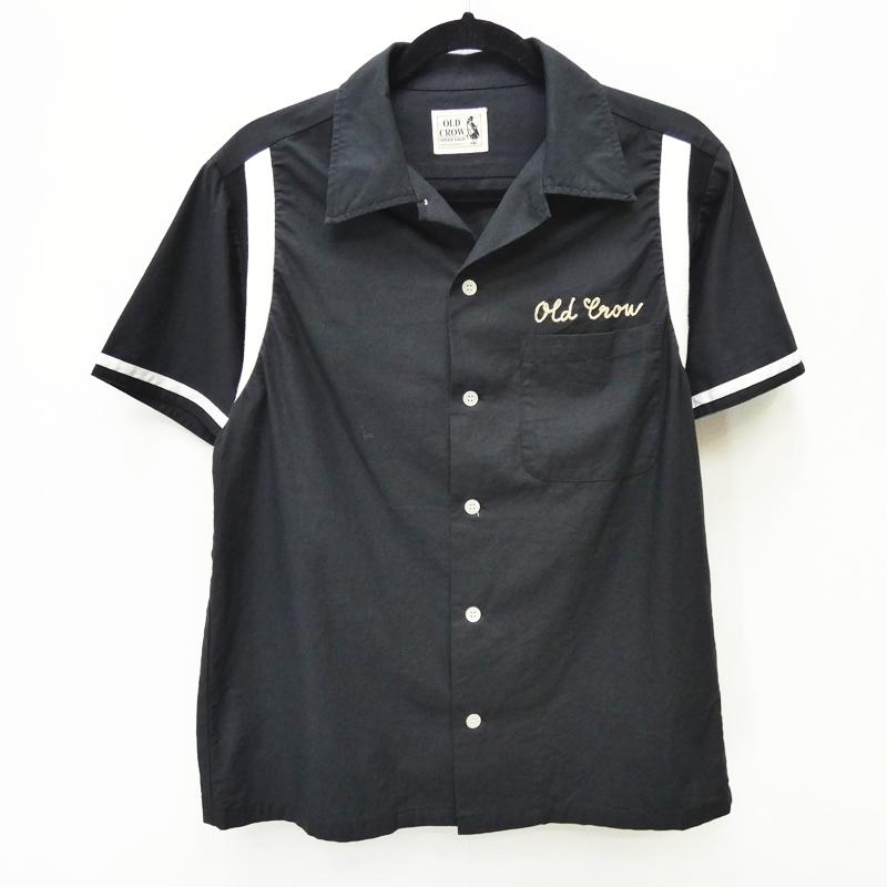 【中古】OLD CROW by GLAD HAND オールドクロウグラッドハンド 17SS [OCW-17-SS-05] 'HIGHLAND PARK - S/S BOWLING SHIRTS' オープンシャツ サイズ:S カラー:ブラック【f104】