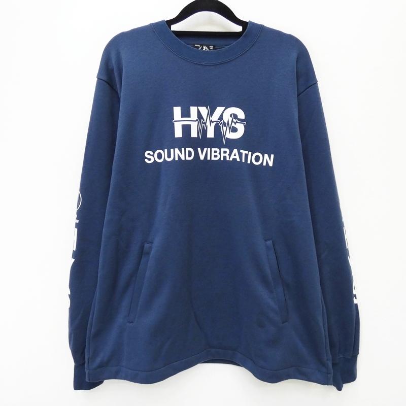 【中古】HYSTERIC GLAMOUR ヒステリックグラマー 02183CS01 'SOUND VIBRATION' 18SS スウェット サイズ:M カラー:ブルー / ドメス【f104】