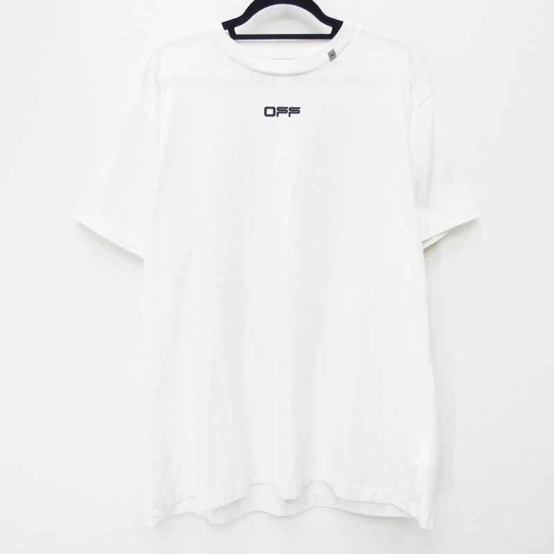 【中古】OFF-WHITE オフホワイト OMAA038S20185005 'CARAVAGGIO SQUARE S/S OVER T-SHIRT' 国内正規品 Tシャツ半袖 サイズ:S カラー:ホワイト【f108】