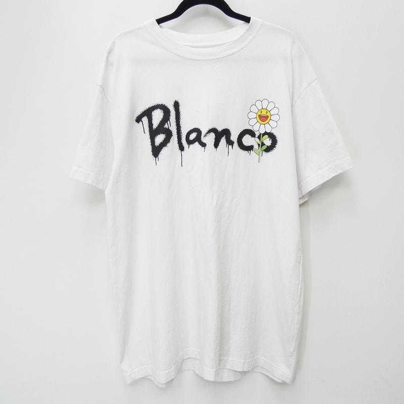 【中古】J BALVIN BLANCO ジェイバルヴィン 'x TAKASHI MURAKAMI SCRIPT TEE' x 村上隆 Tシャツ半袖 サイズ:XXL カラー:ホワイト【f108】