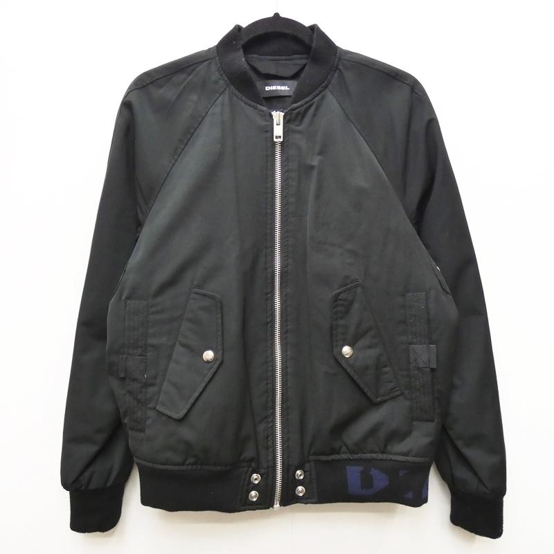 新しい季節 DIESEL ディーゼル ボンバージャケット サイズ:M カラー:ブラック / インポート【f094】, ハッピーLIFE 7d558a4c