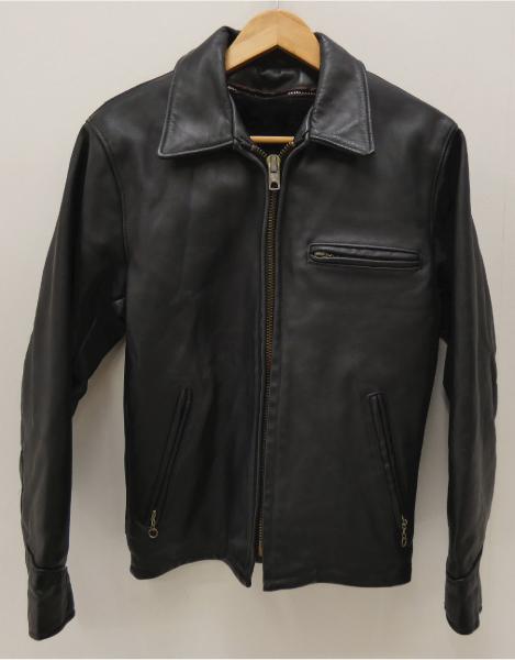 【中古】Schott/ショット シングルレザーライダースジャケット サイズ:34 カラー:ブラック / アメカジ