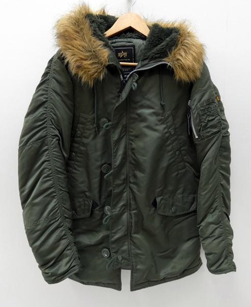【中古】ALPHA/アルファ N-3B フライトジャケット サイズ:M カラー:カーキ / アメカジ