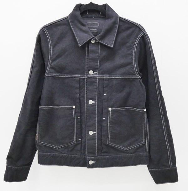 【中古】ONIKI/オニキ モールスキンジャケット サイズ:M カラー:ブラック / セレクト