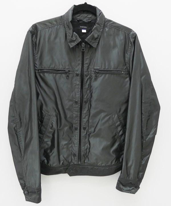 【中古】DIESEL/ディーゼル ナイロンミリタリージャケット サイズ:M カラー:グレー系 / インポート