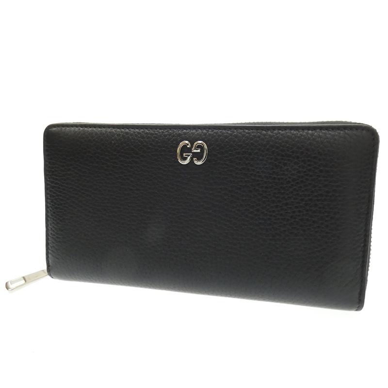 【中古】GUCCI/グッチ ラウンドファスナー長財布 サイズ:- カラー:ブラック【f125】