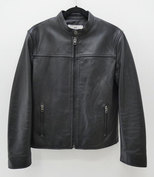 【中古】COACH/コーチ F86594 レザージャケット サイズ:S カラー:ブラック