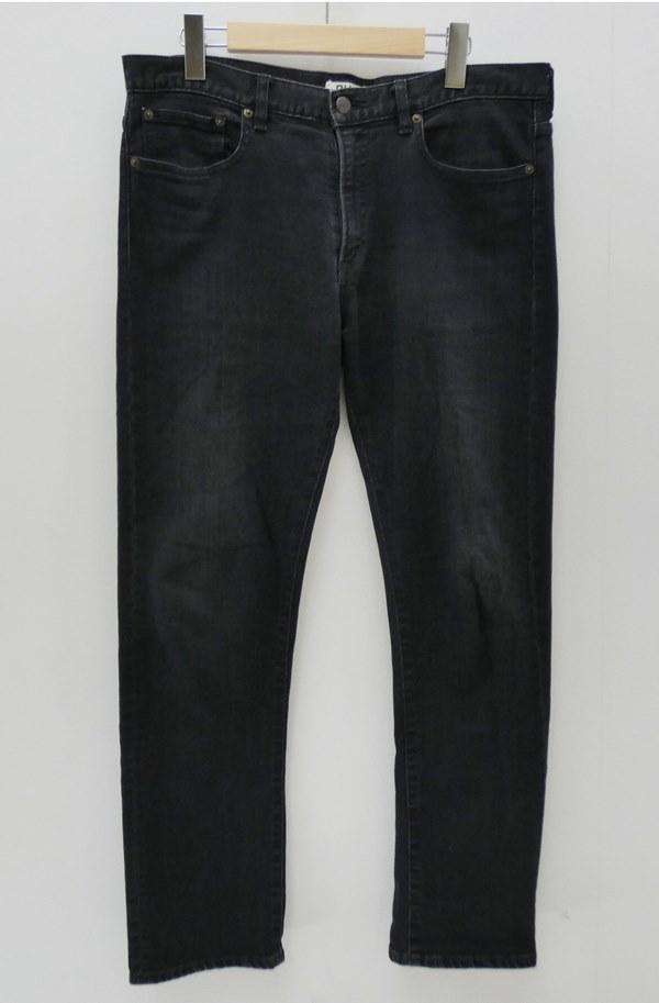 【中古】Ron Herman/ロンハーマン ブラックデニムパンツ サイズ:33 カラー:ブラック / インポート【f107】