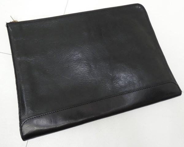 【中古】SLOW/スロー/スロウ レザークラッチバッグ 牛革 カラー:ブラック【f121】