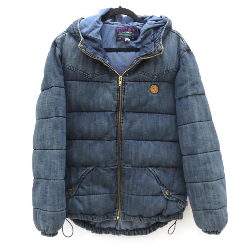 【中古】MISHKA/ミシカ デニム中綿ジャケット サイズ:M カラー:ブルー系 / ストリート【f095】