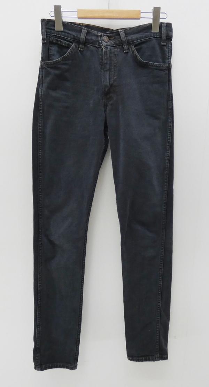 【中古】Levi's/リーバイス オレンジタグ ブラックデニムパンツ サイズ:27 カラー:ブラック / アメカジ【f107】