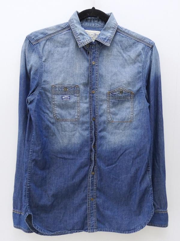 【中古】DIESEL/ディーゼル L/Sデニムシャツ サイズ:S カラー:ブルー系 / インポート【f102】
