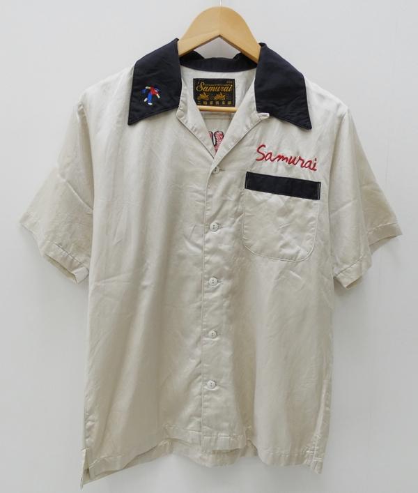 【中古】SAMURAI JEANS/サムライジーンズ ボウリングシャツ サイズ:M カラー:アイボリー / アメカジ【f101】