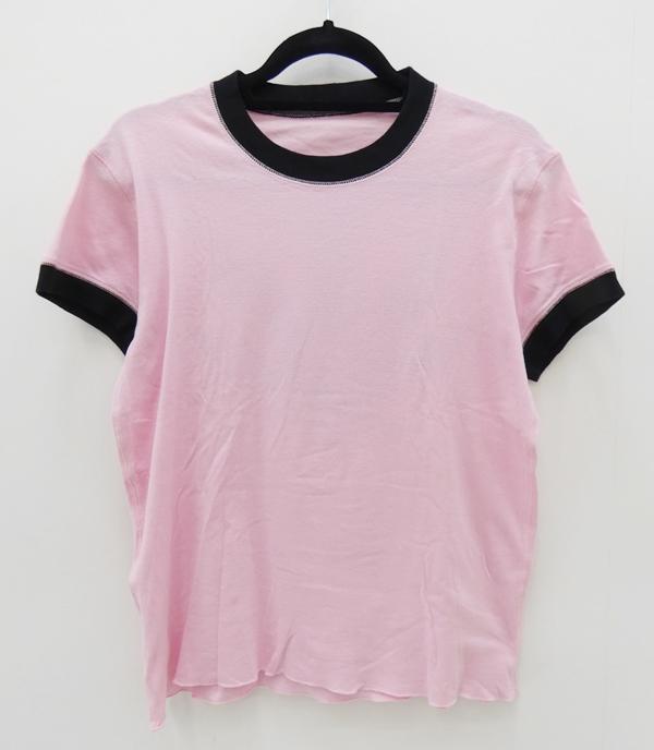 【中古】lucien pellat-finet/ルシアンペラフィネ コロネット バックプリントS/S Tee Tシャツ サイズ:S カラー:ピンク【f108】