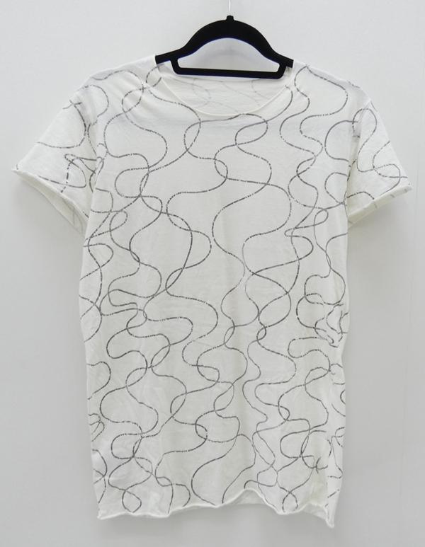 【中古】lucien pellat-finet/ルシアンペラフィネ コロネット S/S総柄Tee Tシャツ サイズ:S カラー:ホワイト【f108】
