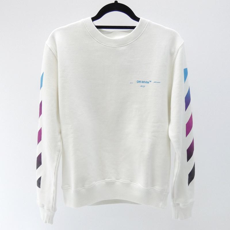 【中古】OFF-WHITE/オフホワイト スウェット サイズ:S カラー:ホワイト【f108】