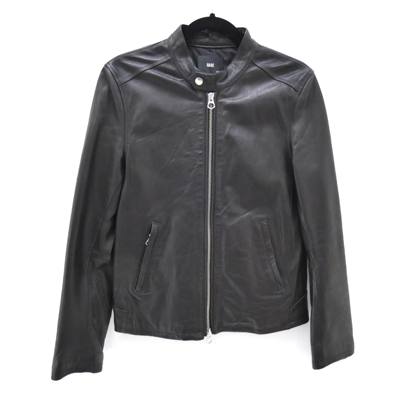 【中古】HARE/ハレ ポイント シープスキンシングルライダースジャケット サイズ:M カラー:ブラック / セレクト【f091】