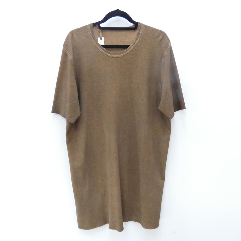 【中古】BORIS BIDJAN SABERI/ボリス ビジャン サベリ 2018S/S RESIN DYED T-ShirtS/Sロング丈カットソー サイズ:2 カラー:ブラウン【f108】