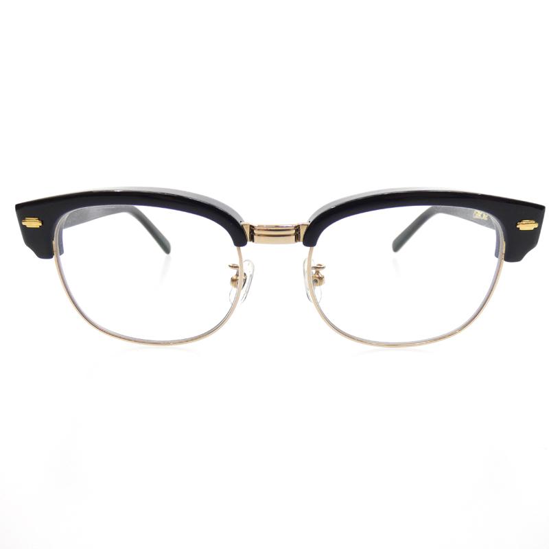 【中古】CALEE /キャリー SIRMONT BROW GLASSES  伊達メガネ/伊達眼鏡 サイズ:- カラー:ブラック×クリア【f116】